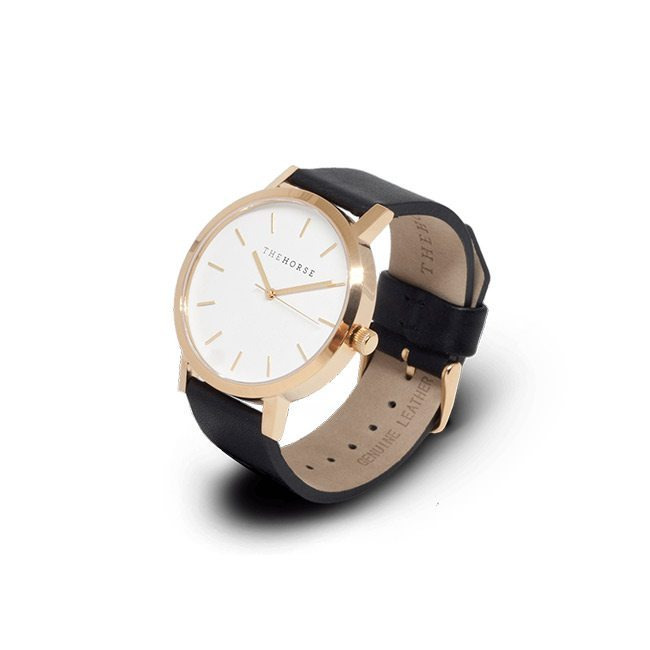 The Horse Original Watch in Polished Gold/White