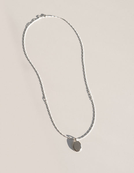 Cadette Minimalist Coin Necklace in Silver