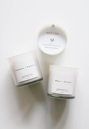 Brand & Iron Candle Home Series Jasmine & Vetiver