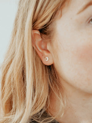 Load image into Gallery viewer, Hart & Stone Little Lune Studs