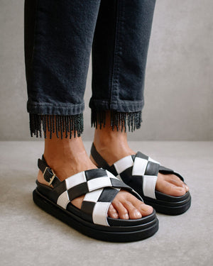 Alohas Marshmallow Sandal in Scacchi Black and White PRE-ORDER