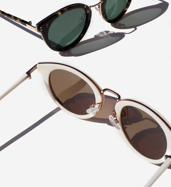 Raen Potrero Sunglasses in Bone + Rose Gold