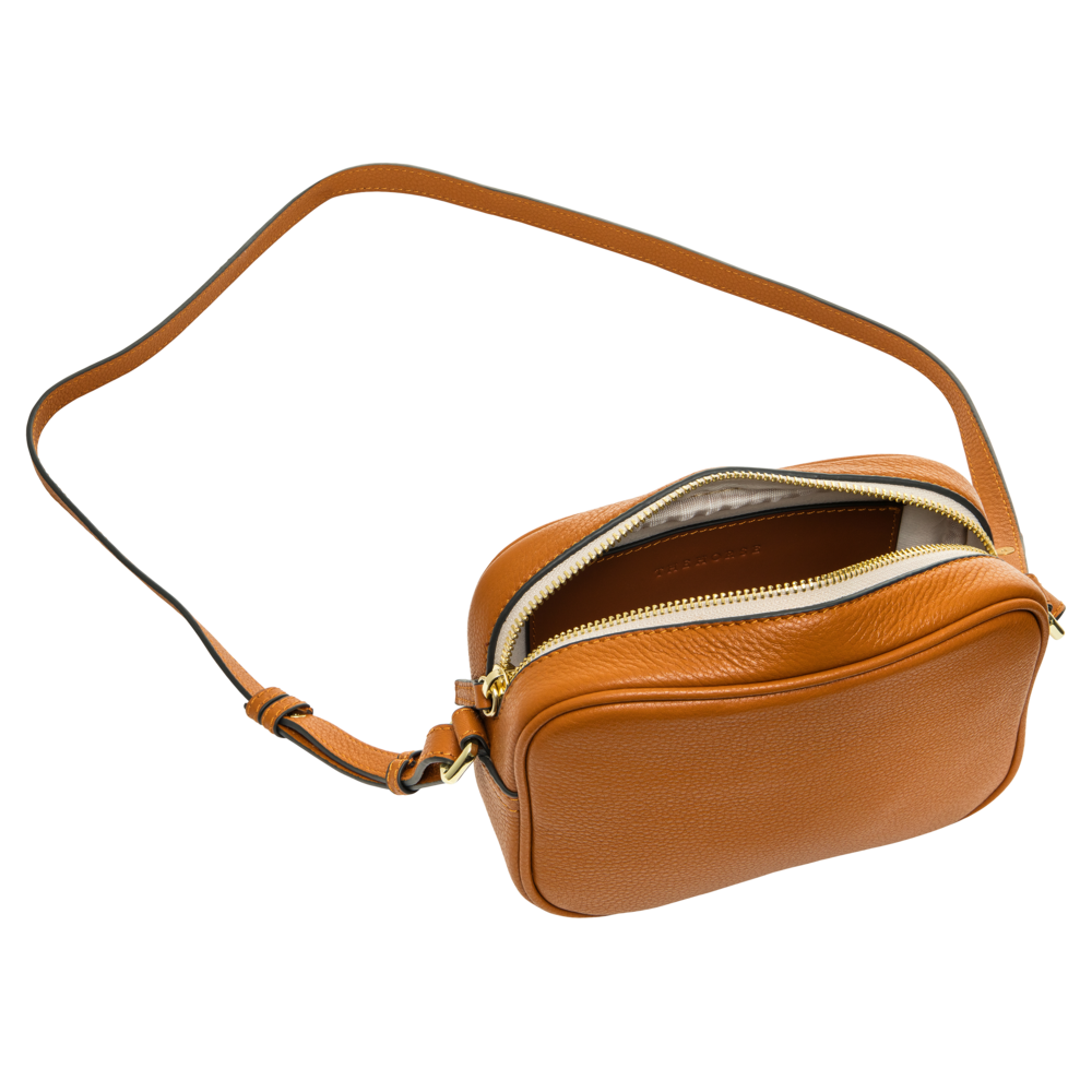 The Horse Crossbody Leather Bag in Tan