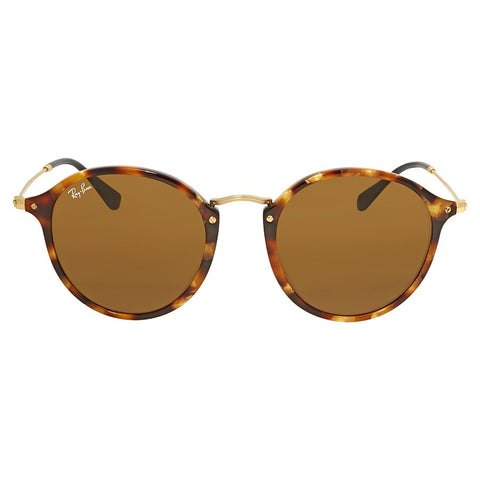 Ray Ban Round Spotted Brown Havana with Brown