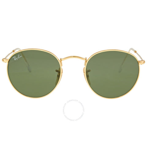 Ray Ban Round Metal Arista with Crystal Green
