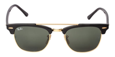 Ray Ban Clubmaster DoubleBridge Black with Green