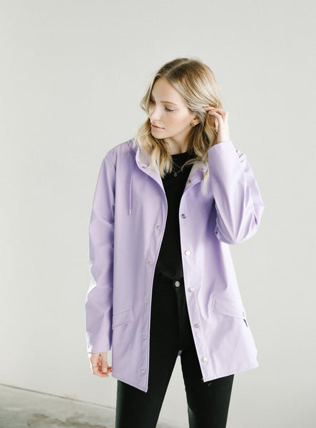 RAINS Short Coat in Lavender
