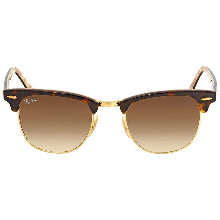 Ray Ban clubmaster metal gold top havana with clear gradient