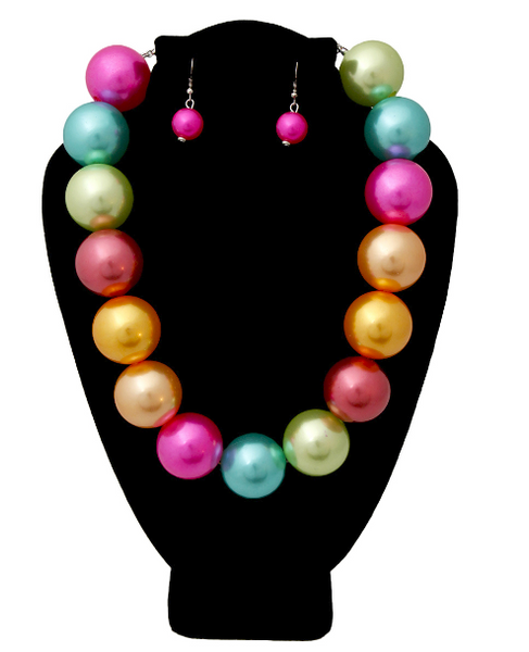 Jumbo Pearl Necklace Set