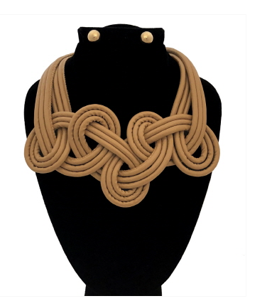 Leather Twisted Collar Necklace