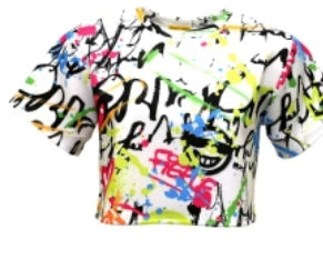 Graffiti Crop Top