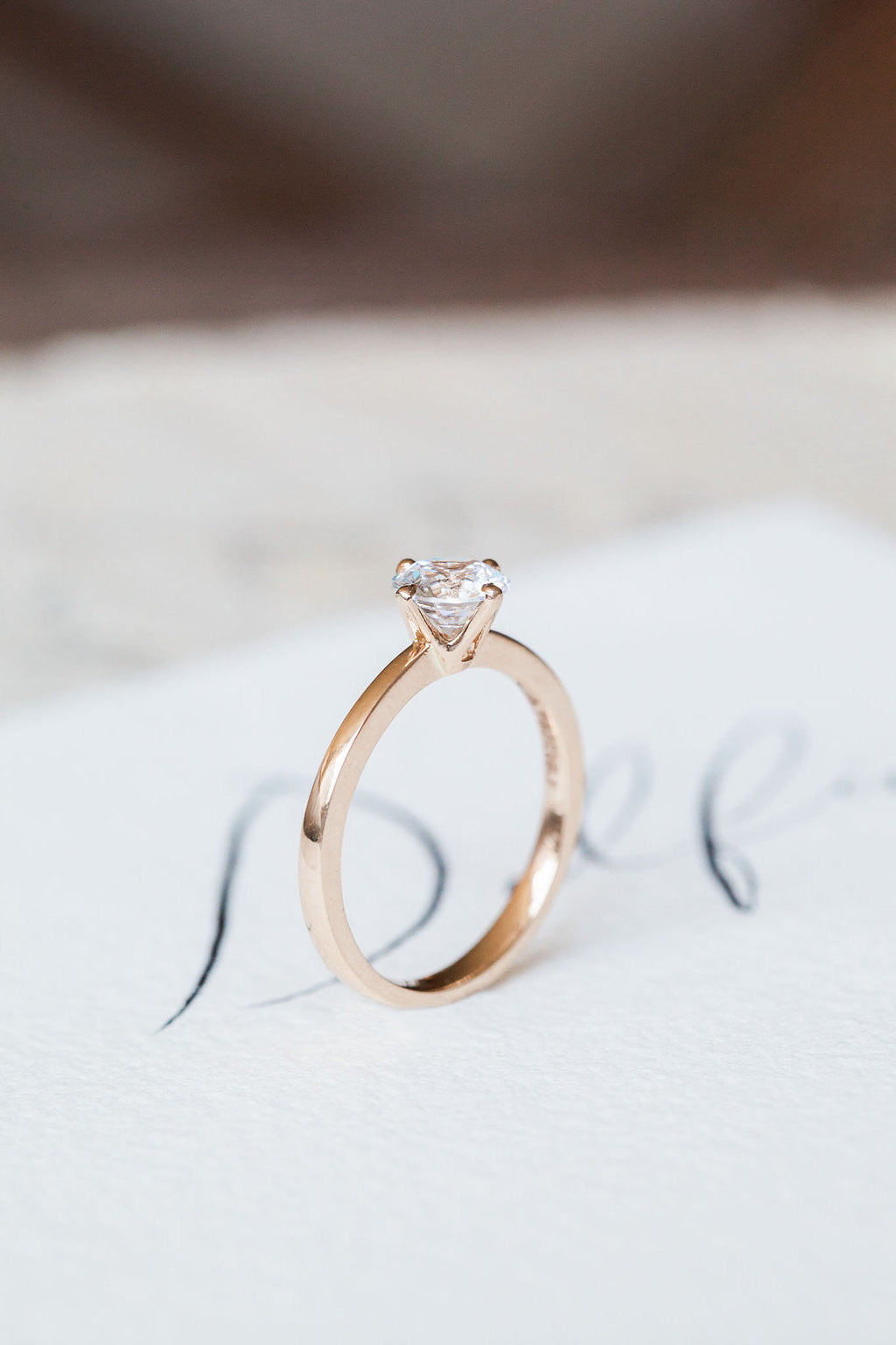 Round - 4-Prong Solitaire - Rose Gold