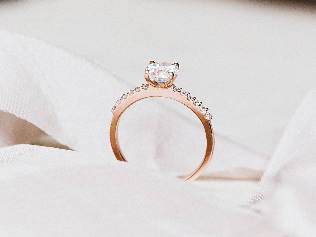 Round - Pave - Rose Gold
