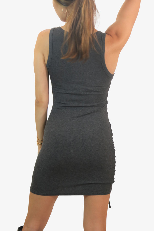 Side Tie Comfort Dress