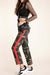 Makenna Red Stripe Tuxedo Army Pants