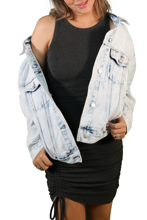Amy Light Wash Denim Jacket