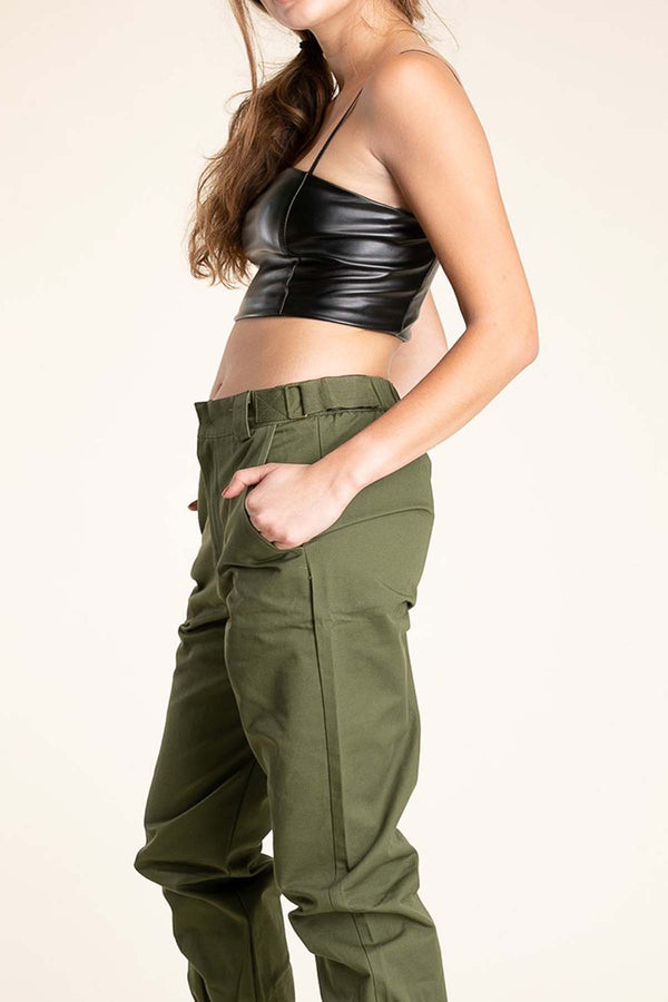 Dakota Faux Leather Crop Top