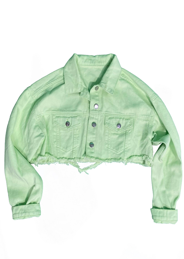 Ariella Denim Lime Jacket