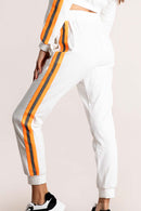 Orange Reflective Trim Trackpants