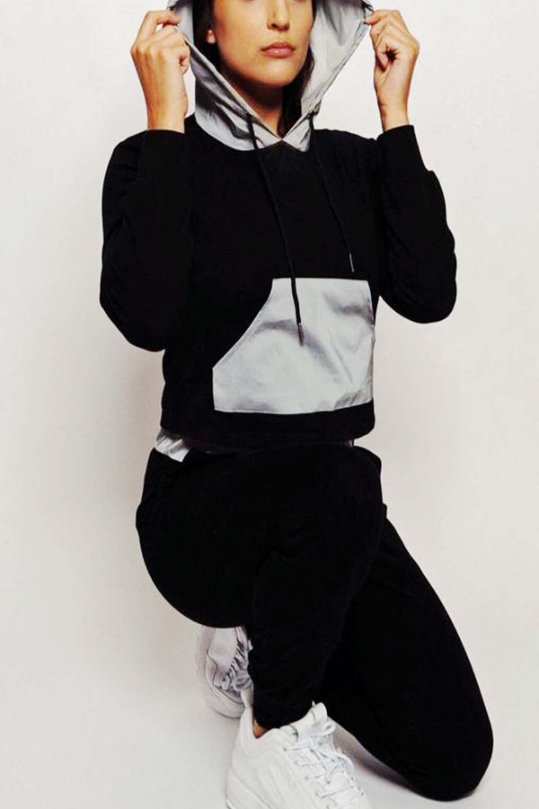 Sutton Reflective Crop Tracksuit Hoodie