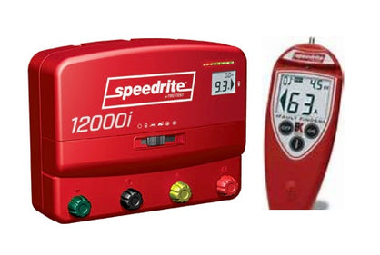 SPEEDRITE 12000i + REMOTE | DUAL POWERED 110V/12V ENERGIZER | 12 JOULE | FREE U.S.A. SHIPPING AND FENCE TESTER - Speedritechargers.com