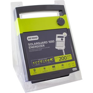 PATRIOT SOLARGUARD 1000 SOLAR POWERED FENCE CHARGER 40 MILES / 140 ACRES | FREE SHIPPING AND FENCE TESTER - Speedritechargers.com