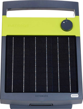 PATRIOT SOLARGUARD 500 SOLAR POWERED FENCE CHARGER 30 MILES / 100 ACRES | FREE SHIPPING AND FENCE TESTER - Speedritechargers.com