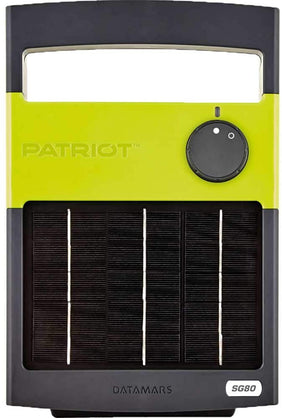 PATRIOT SOLARGUARD 80 SOLAR POWERED FENCE CHARGER 3 MILES / 12 ACRES | FREE SHIPPING AND FENCE TESTER - Speedritechargers.com