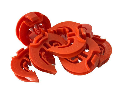 Lock Jawz 360° T-Post Insulator | 250 Pack | Orange - Speedritechargers.com