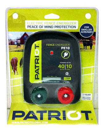 PATRIOT PE 10 110V AC POWERED FENCE CHARGER, 10 MILE / 40 ACRE | FREE SHIPPING - Speedritechargers.com