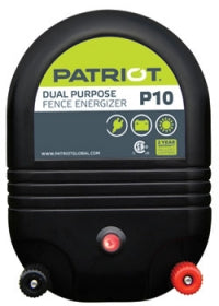 PATRIOT P10 AC/DC Dual Powered Fence Charger, 30 Mile/ 100 Acre | Free Shipping and Fence Tester - Speedritechargers.com