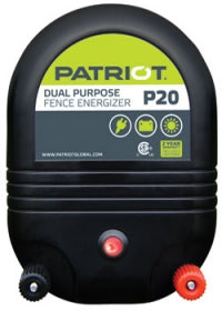 PATRIOT P20 AC/DC Dual Powered Fence Charger, 50 Mile / 165 Acre | Free Shipping and Fence Tester - Speedritechargers.com