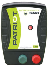PATRIOT PBX 200 12V DC BATTERY POWERED FENCE CHARGER, 50 MILE / 165 ACRE | FREE SHIPPING AND FENCE TESTER - Speedritechargers.com