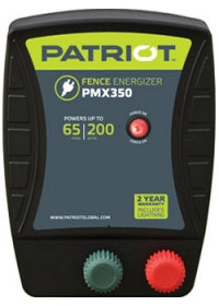 PATRIOT PMX 350 110V AC POWERED FENCE CHARGER, 65 MILE / 200 ACRE | FREE SHIPPING AND FENCE TESTER - Speedritechargers.com