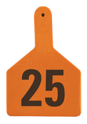 Z1 No-Snag-Tag Premium Cow Ear Tags  Orange, 26-50, 1 Piece (25/bag) - Speedritechargers.com