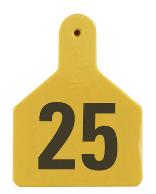 Z1 No-Snag-Tag Premium Calf Ear Tags  Yellow, 1-25, 1 Piece (25/bag) - Speedritechargers.com