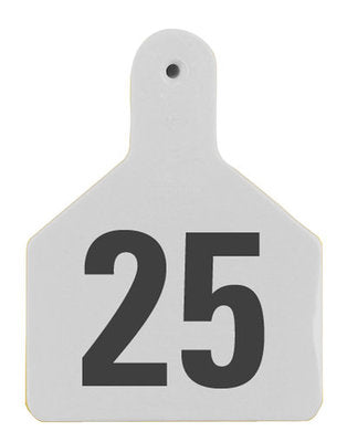 Z1 No-Snag-Tag Premium Calf Ear Tags  White, 1-25, 1 Piece (25/bag) - Speedritechargers.com