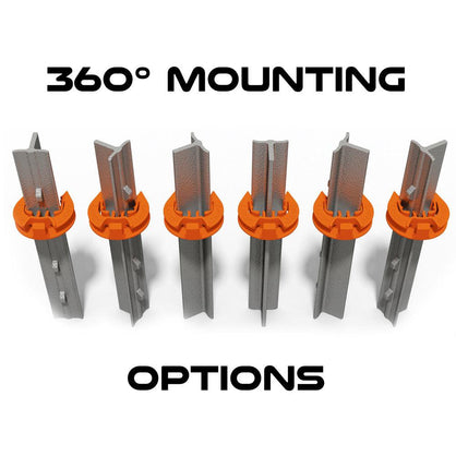 Lock Jawz 360° T-Post Insulator | 500 Pack | Orange - Speedritechargers.com