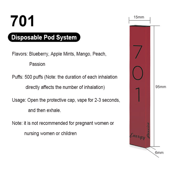 701 Energy Disposable Pod System