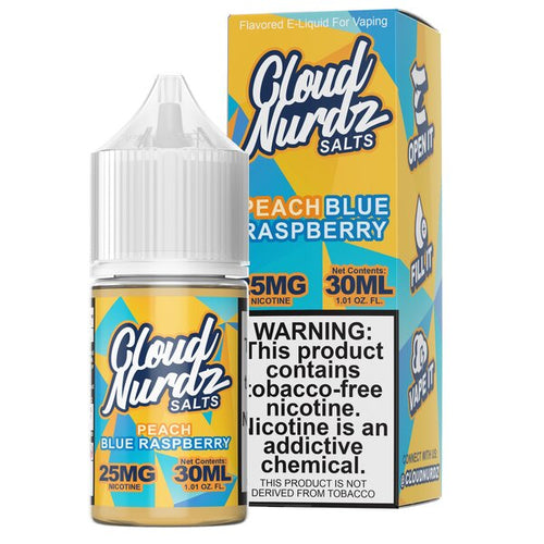 Cloud Nurdz Synthetic Salt - Peach Blue Raspberry 30ml 🍑