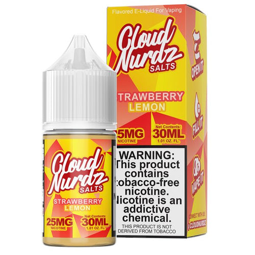 Cloud Nurdz Synthetic Salt - Strawberry Lemon 30ml 🍓🍋