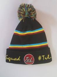 Tvl Black/Rasta Colored Beanie