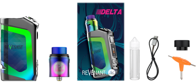 (PRE ORDER) TVL X Revenant 100W Delta Squonk Box Mod Kit With Reload RDA