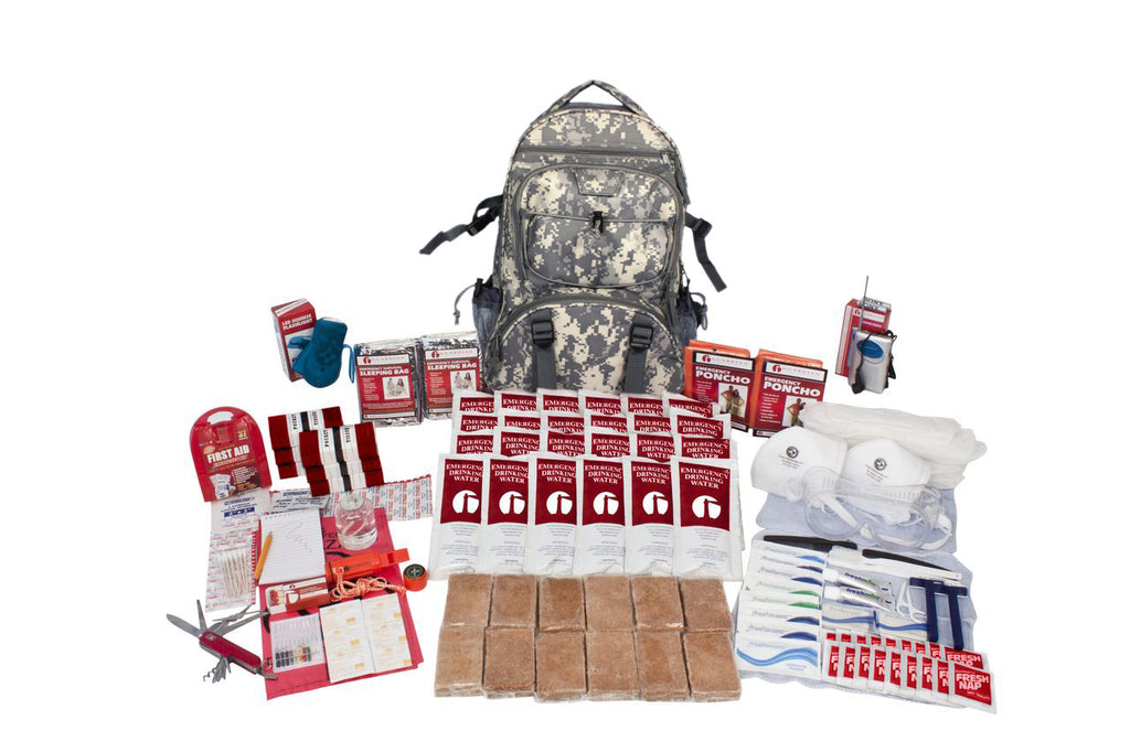 2 Person Elite Emergency Backpack Survival Kit with Food /& Water RED