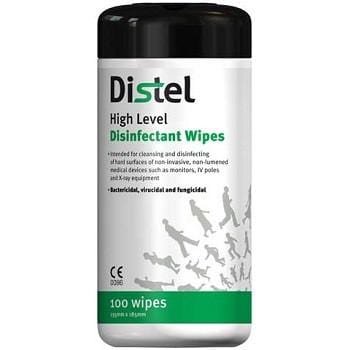 DISTEL WIPES - 100 WIPES/CANISTER - USE ON RESPIRATOR - 1017652