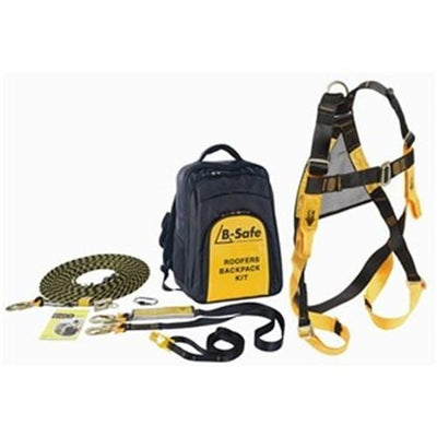 ROOFERS SAFETY KIT WITH HARNESS, LANYARD, ATTACHMENT STRAP, ROPE AND GRAB AND KARABINER