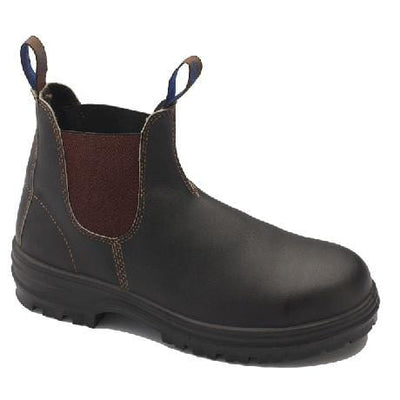 PREMIUM LEATHER STEEL TOE CAP - BROWN - 140