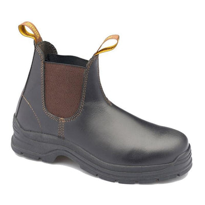 MEN'S WAXY LEATHER STEEL TOE CAP - BROWN - 311