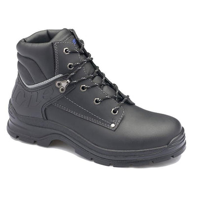 MEN'S WAXY LEATHER STEEL TOE CAP - 312 - BLACK