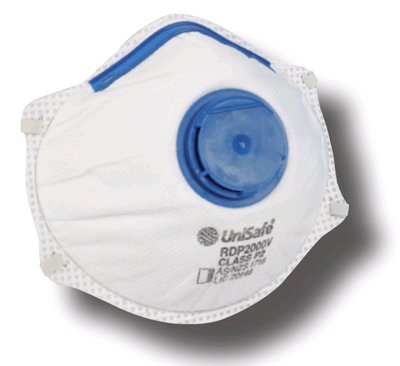UNISAFE PARTICULATE/MIST/FUME DISPOSABLE RESPIRATOR - P2 - PACK OF 10 - RDP2000V